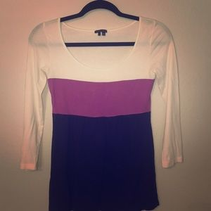 Theory color block top!